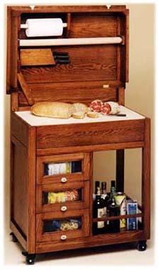 carrello cucina art 37 dotato di cassettoni dispensa tagliere spianatoia conca per limpasto portautensili e mattarello lideale per la preparazione